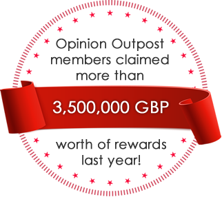 Opinion Outpost members claimed more than 3.5 million GBP worth of rewards last year! - Earn Cash for Surveys