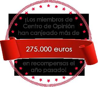 ¡Los miembros de Centro de Opinión canjearon recompensas por un valor superior a 275000 EUR el año pasado! - Sitio de encuestas online remuneradas
