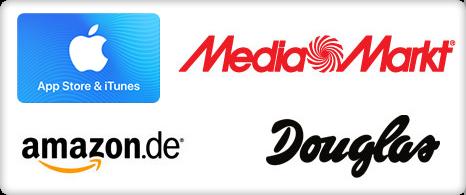 Gutscheine Amazon.de, Galeria Kaufhof, Douglas, App Store & iTunes